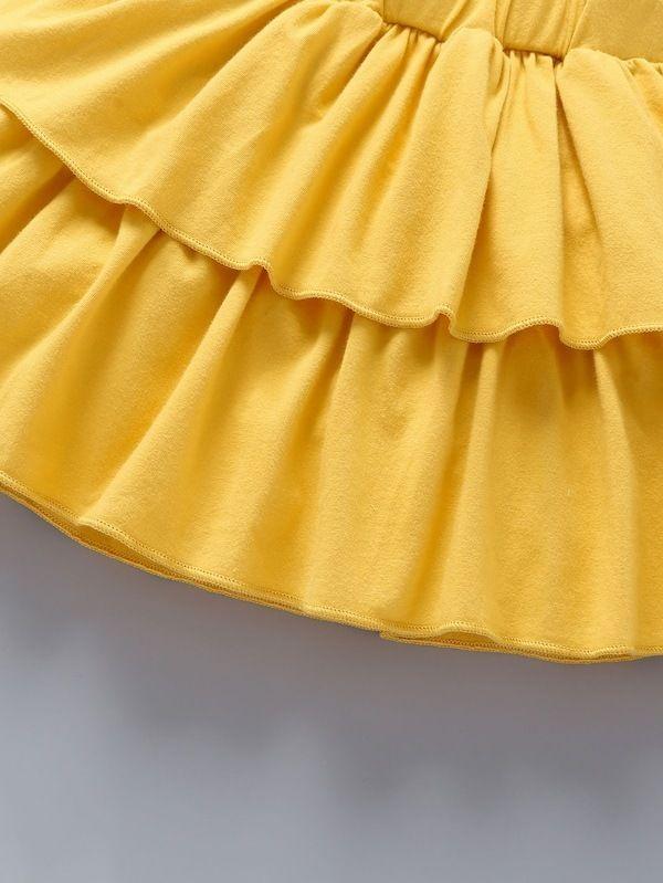 Baby Girl Pineapple Print Romper & Layered Skirt & Headband