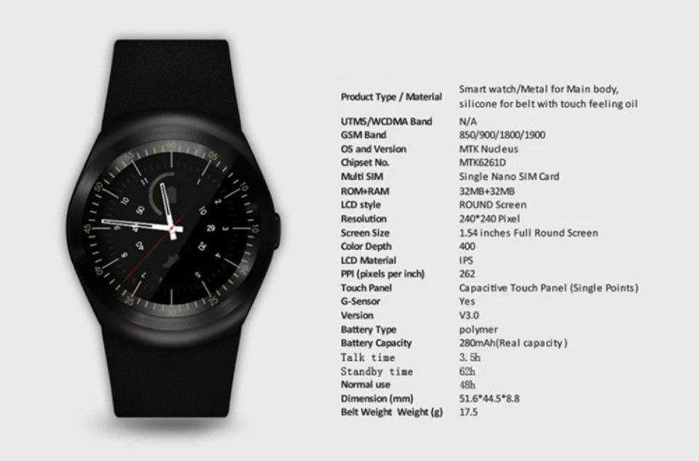 Smart Watch Y1 Smartwatch - Bluetooth Camera SIM Android (Newest Version)