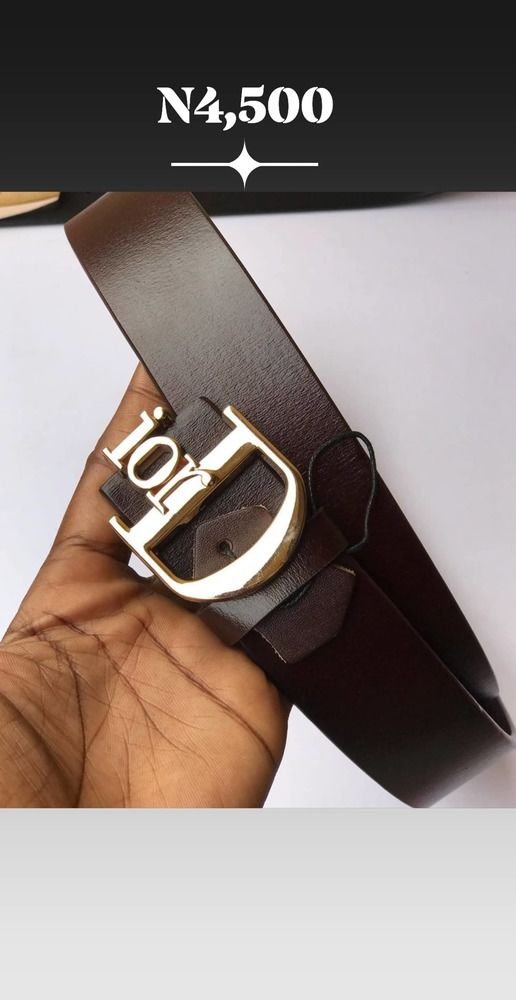 Male Leather Belt