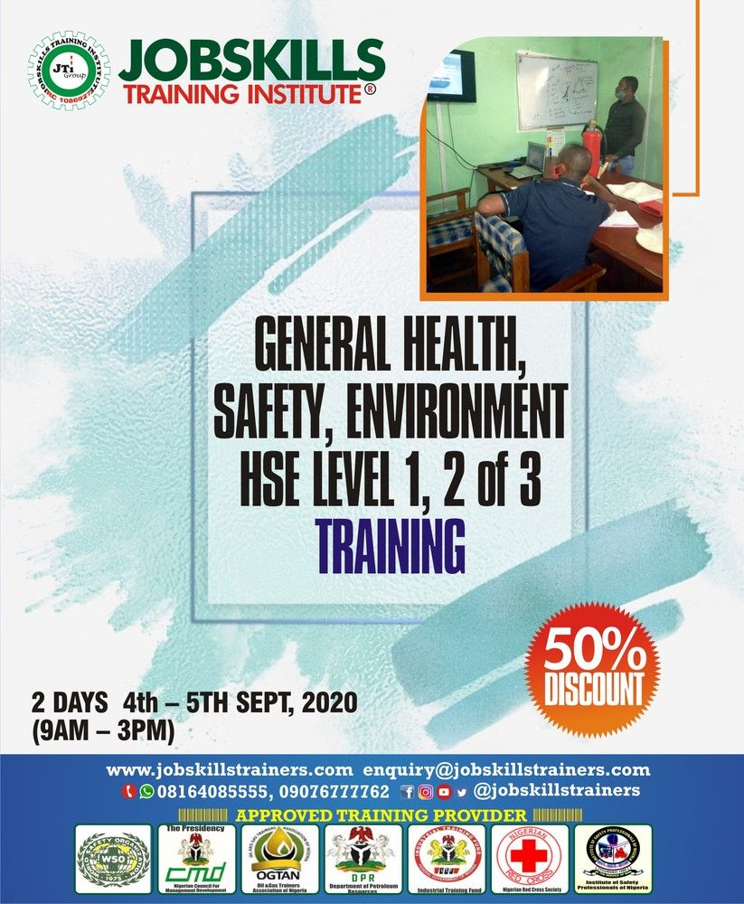 General Health, Safety  & Environment Training (hse Level 1 & 2 of 3)