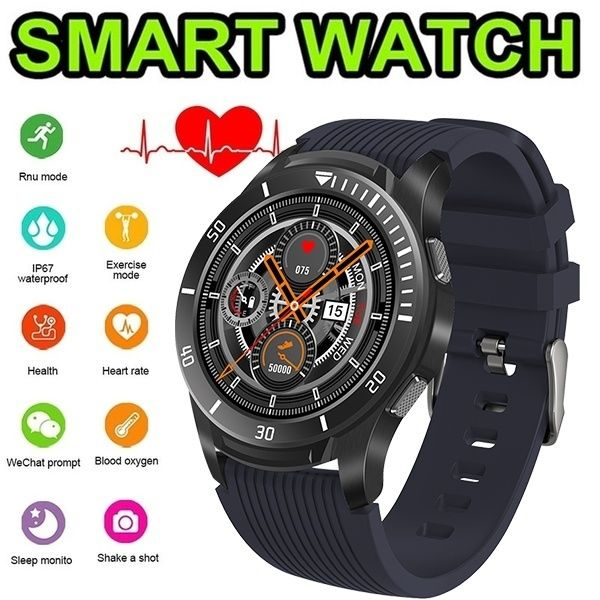 Full Screen Touch Smart Watch Heart Rate Monitor Call Reminder Fitness Watch Men Women Music Smartwatch IOS Android
