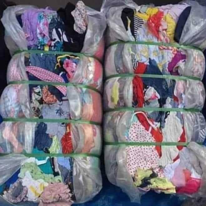 Bale of womens clothes